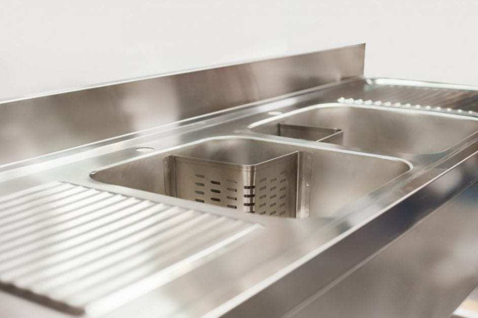 double bowl commercial sinks by Cater Kitchen