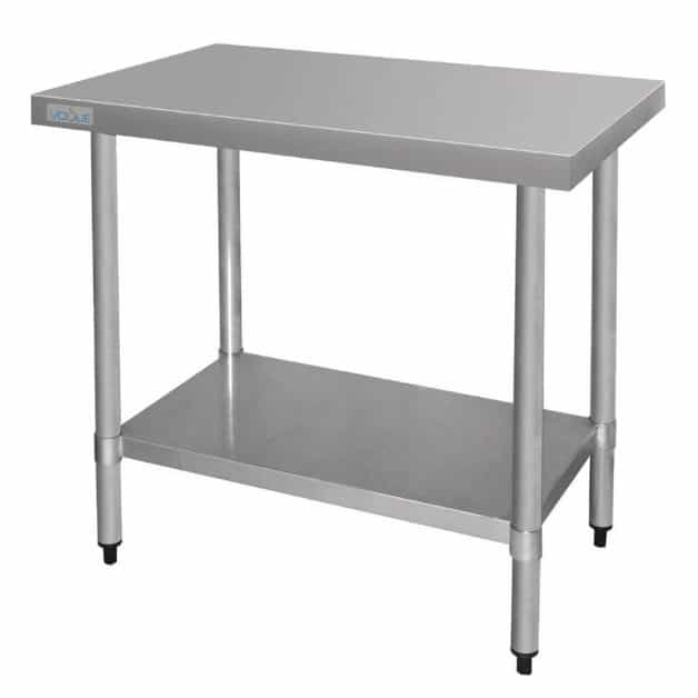 Vogue Ultra Heavy Duty Stainless Steel Table Without Upstand 1800mm x 600mm