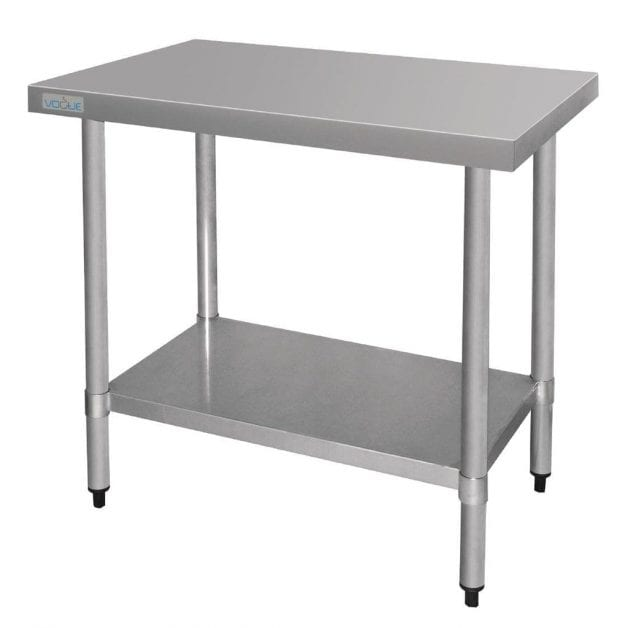 Vogue Ultra Heavy Duty Stainless Steel Table Without Upstand 900mm x 600mm
