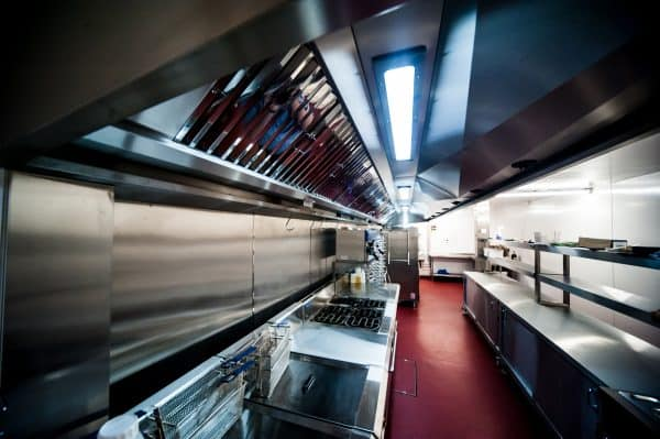 stainless steel fabrication at Cater Kitchen